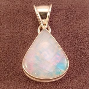 Moonstone Translucent Art Sterling Pendant